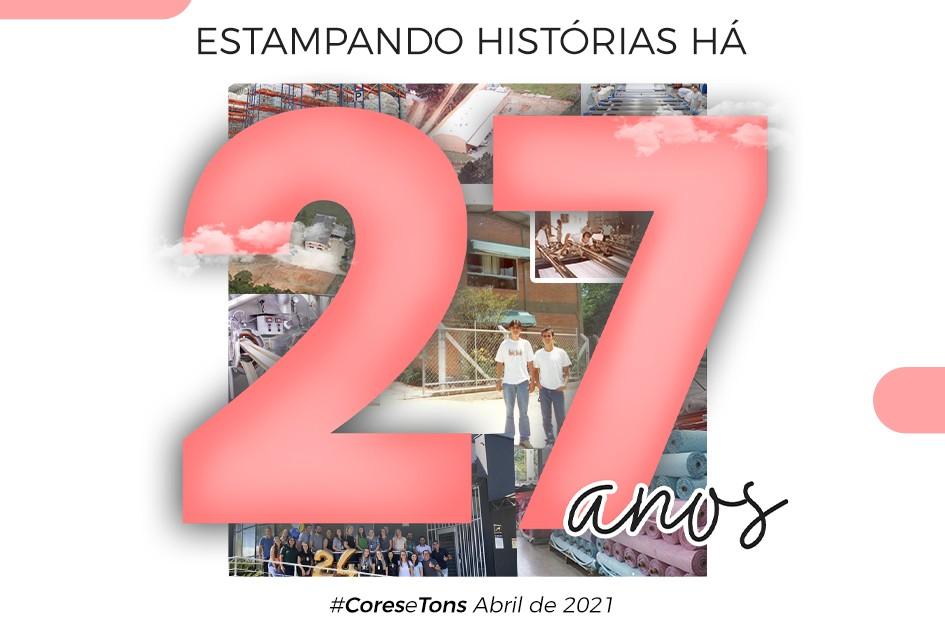 27 anos estampando história