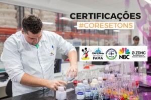 Certificações Cores e Tons